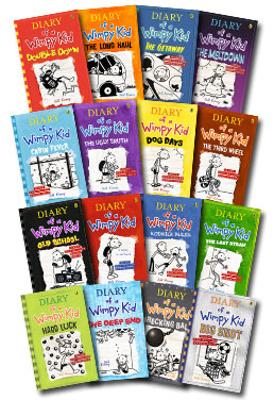 Diary of a Wimpy Kid - Set of 15 by Jeff Kinney