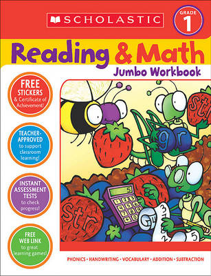 Reading & Math Jumbo Workbook: Grade 1 by Terry Cooper