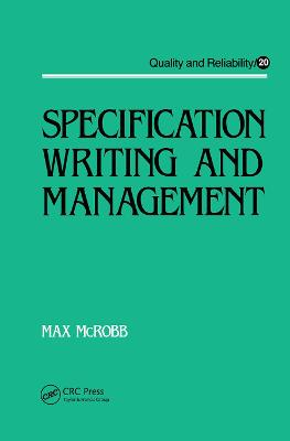 Specification Writing and Management book