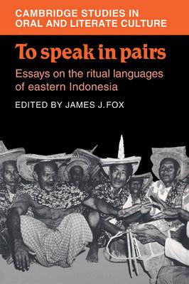 To Speak in Pairs book