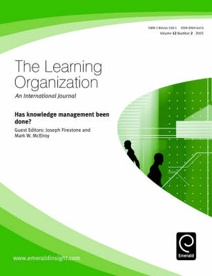 Has Knowledge Management Been Done by Joseph M. Firestone