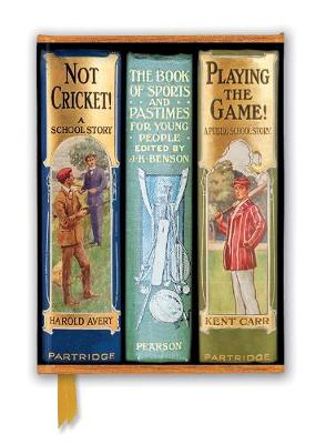 Bodleian Libraries: Book Spines Boys Sports (Foiled Journal) by Flame Tree Studio