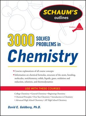 3,000 Solved Problems In Chemistry by David E. Goldberg