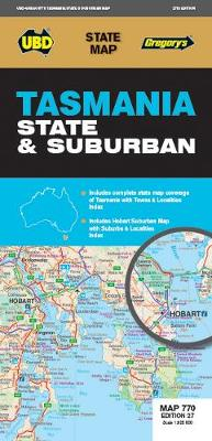 Tasmania State & Suburban Map 770 27th ed by UBD Gregory's