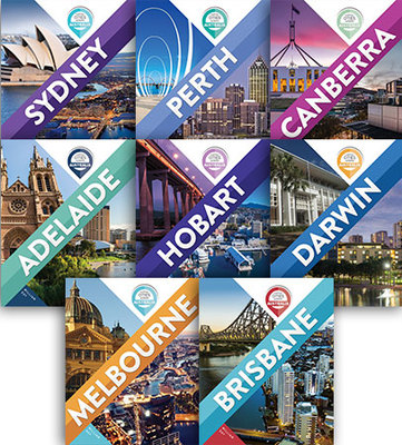 Capital Cities Across Australia - Set of 8 by William Day