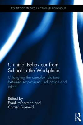 Criminal Behaviour from School to the Workplace by Frank Weerman