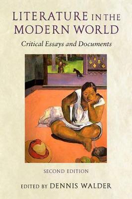 Literature in the Modern World by Dennis Walder