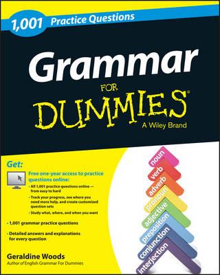 1,001 Grammar Practice Questions for Dummies by Geraldine Woods
