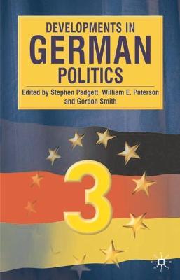 Developments in German Politics by Stephen Padgett