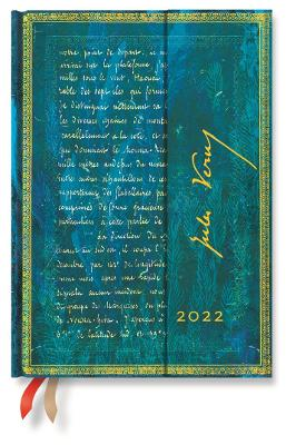 2022 Verne, 20,000 Leagues, Midi, (Week at a Time) Diary: Hardcover, Horizontal Layout, 100 gsm, wrap closure book