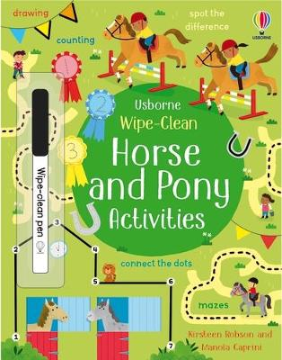 Wipe-Clean Horse and Pony Activities book
