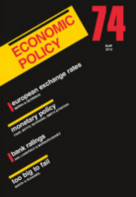 Economic Policy  74 by Georges De Menil