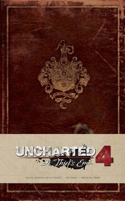 Uncharted Hardcover Ruled Journal book
