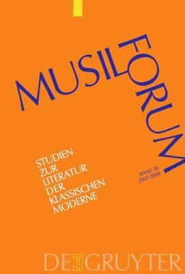 Musil-Forum, Band 30, Musil-Forum (2007/2008) by Norbert Christian Wolf