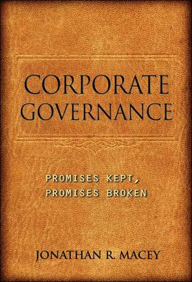 Corporate Governance by Jonathan R. Macey