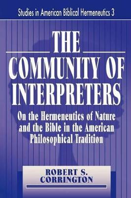 THE Community of Interpreters by Robert S. CORRINGTON