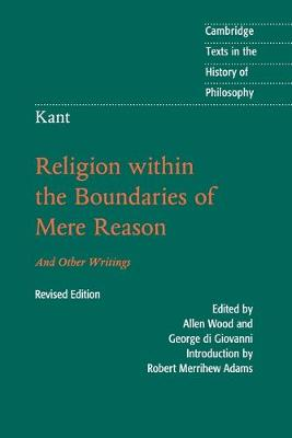 Kant: Religion within the Boundaries of Mere Reason book