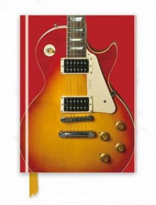 Gibson Les Paul Guitar, Sunburst Red (Foiled Journal) by Flame Tree Studio