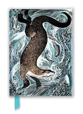 Angela Harding: Fishing Otter (Foiled Journal) by Flame Tree Studio