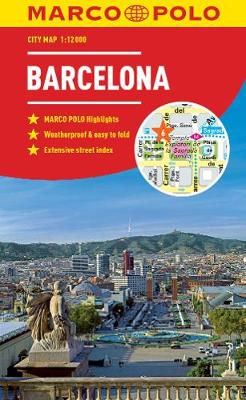 Barcelona Marco Polo City Map 2018 - pocket size, easy fold, Barcelona street map by Marco Polo