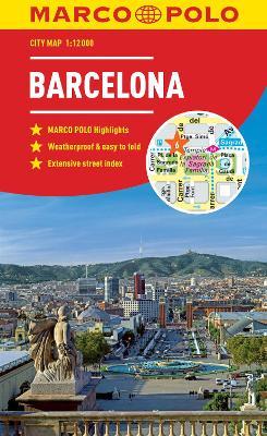 Barcelona Marco Polo City Map 2018 - pocket size, easy fold, Barcelona street map by Marco Polo