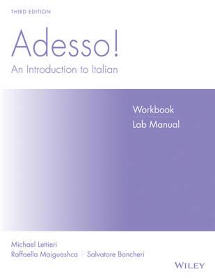 Adesso!, Workbook/Lab Manual by Marcel Danesi