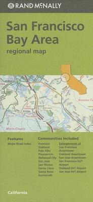 Folded Map San Fran Bay CA Regional by Rand McNally
