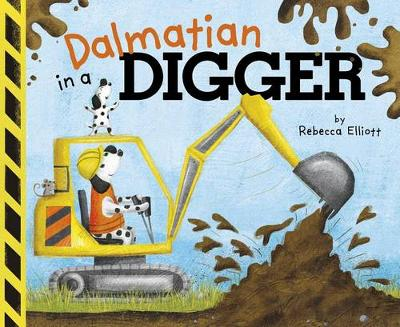 Dalmatian in a Digger by ,Rebecca Elliott