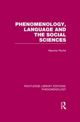 Phenomenology, Language and the Social Sciences book