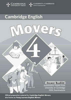 Cambridge Young Learners English Tests Movers 4 Answer Booklet book