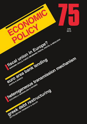Economic Policy  75 by Georges De Menil