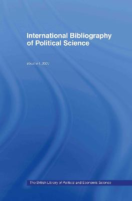 IBSS: Political Science Volume 50 by Compiled by the British Library of Political and Economic Science