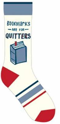 Bookmarks Are for Quitters Socks by Gibbs Smith Publisher