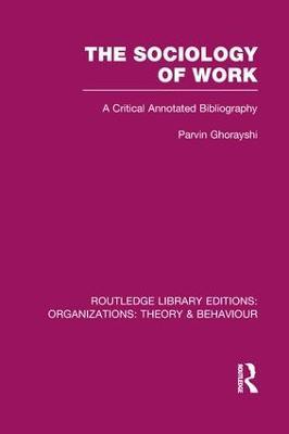 Sociology of Work book