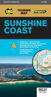 Sunshine Coast Map 405 8th ed by UBD Gregory's