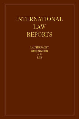 International Law Reports: Volume 163 by Elihu Lauterpacht