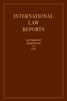 International Law Reports: Volume 163 by Elihu Lauterpacht