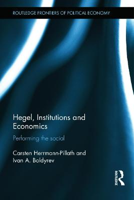 Hegel, Institutions and Economics book