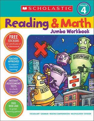 Reading & Math Jumbo Workbook: Grade 4 by Terry Cooper