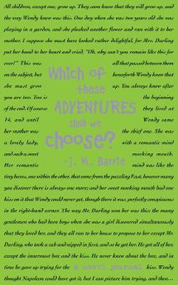 A Novel Journal: Peter Pan (Compact) book