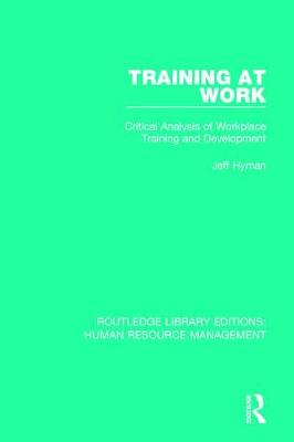 Training at Work by Jeff Hyman