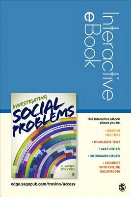 Investigating Social Problems Interactive ebook by A. Javier Trevino