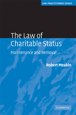 Law of Charitable Status book