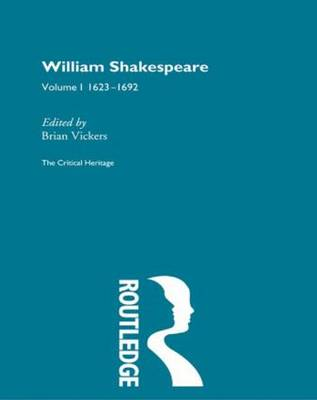 William Shakespeare by Brian Vickers