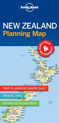 Lonely Planet New Zealand Planning Map book
