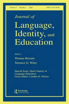 Queer Inquiry in Language Education  Volume 5, No. 1 by Cynthia Nelson