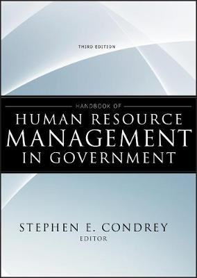 Handbook of Human Resource Management in Government book