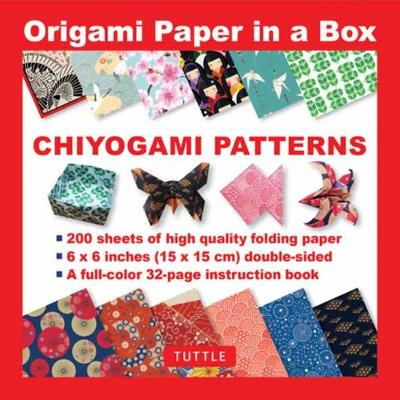 Origami Paper in a Box - Chiyogami Patterns: 200 Sheets of Tuttle Origami Paper by Tuttle Publishing