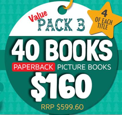 Value Pack 3 - 40 Paperback Picture Books by Various