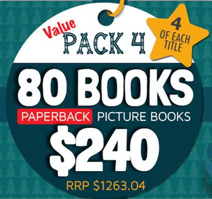 Value Pack 4 - 80 Paperback Picture Books by Various